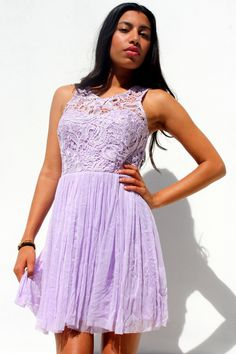 Lilac #lace tulle dress