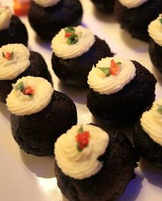 Christmas nibbles and canapes don't need to be complicated. See our menu of some of our festive party favourites. Christmas Nibbles, Christmas Canapes, Christmas Party Food, Christmas Pudding, Christmas Baking, Christmas Starters, Black Pudding, Black Christmas, Xmas