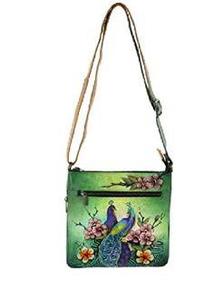2e9080c9b Anuschka Passionate Peacocks Medium Crossbody Handbag, NWT: Handbags:  Amazon.com