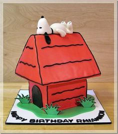 Terrific Snoopy Birthday Cake made by Dream Cakes by Robyn