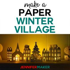 Dress up a mantle or a tablescape with this simple yet sweet paper Christmas village and houses. Add in a few LED tea lights and it will glow with warmth and open doors! When I was a kid, when of my favorite parts of the holidays were getting out our dec 3d Christmas, Christmas Gifts For Women, Outdoor Christmas, White Christmas, Christmas Scenes, Christmas Kitchen, Victorian Christmas, Vintage Christmas, Holidays