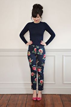 I'm obsessed with Sew Over It! This pant pattern is, by far, the easiest to understand and turned out so cute! #diypantssummer