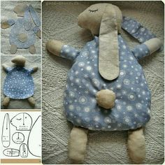 How to DIY Cute Bunny Pillow from Free Template - Sew Bunny Pillow Free Pattern. - How to DIY Cute Bunny Pillow from Free Template – Sew Bunny Pillow Free Pattern (Stuffed with Gr - Cute Pillows, Baby Pillows, Kids Pillows, Sewing Baby Clothes, Sewing Toys, Free Sewing, Baby Sewing Projects, Sewing Projects For Beginners, Sewing Hacks
