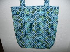 Blue and Green Pattern Green Pattern, Shopping Bags, Fabulous Fabrics, Reusable Tote Bags, Sewing, Blue, Collection, Couture, Sew