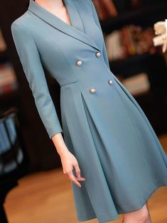 Buy Casual Dresses Elegant Dresses For Women from 1453 at Popreason. Online Shopping Popreason Formal Dresses 1 Casual Dresses Daily A-Line Shawl Collar Elegant Ruched Sleeve Dresses, The Best… Elegant Dresses Classy, Elegant Dresses For Women, Classy Dress, Classy Outfits, Casual Outfits, Elegant Clothing, Women's Dresses, Casual Dresses, Fashion Dresses