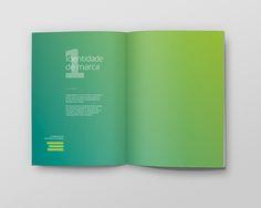 Satis - Branding by Gustavo Freitas, via Behance Graphic Design Brochure, Brochure Layout, Freelance Graphic Design, Magazine Layout Design, Book Design Layout, Album Design, Leaflet Design, Booklet Design, Corporate Design