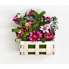 Wild Flowers Mixed Floral Arrangement in Wood Open Box