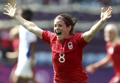 Canada's Diana Matheson scored the game winning goal against France for bronze - Olympic Women's Soccer