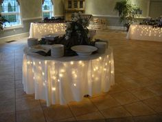 lights under the table skirts