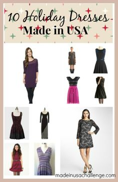 10 Holiday Dresses Made in USA