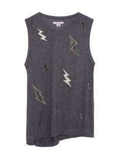 Comme l'éclair T-shirt en coton, Zadig & Voltaire , 198 €.