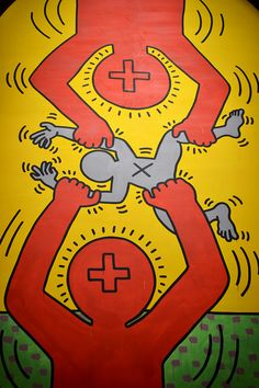 "The Ten Commandments e The Marriage of Heaven and Hell esposti nella mostra ""Keith Haring Extralarge"" - ex chiesa di San Francesco, Udine - Bianco&Nero Contemporary Artists, Modern Art, Keith Haring Art, Street Art, Tv Movie, Wow Art, Arte Pop, Art Graphique, Graffiti Art"