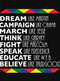 'Dream Like Martin Black History Month Black Leaders' Relaxed Fit T-Shirt by blackartmatters Black History Month Quotes, Black History T Shirts, Black History Facts, Black History Month Activities, Black Love Art, Black Girl Art, History Bulletin Boards, Black Leaders, Black Quotes