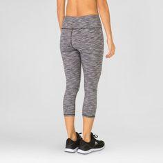Rbx Women's Multi Spacedye Peached Yoga Capri Leggings - Black/White L