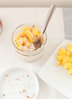 Summer Mango Coconut Porridge — a Better Happier St. Sebastian  This sounds delicious and as an added plus...healthy!
