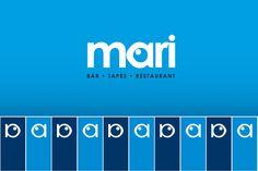 Branding. Logotipo para Mari Restaurant, especializado en comida mediterránea. Desarrollo y aplicaciones de imagen corporativa. Fecha: 2013 Branding, Logo, Mediterranean Food, Calendar Date, Human Body, Restaurants, Brand Management, Identity Branding