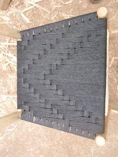 Chevron woven Irish pattern in black Danish cord