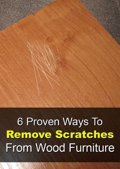 Try these quick fixes to cover up small scratches and imperfections using items you already have in your home!