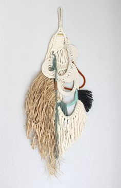 """Macrame Wall Hanging """"Creek no.2"""" by HIMO ART, One of a kind Handcrafted Macrame/Rope art"""