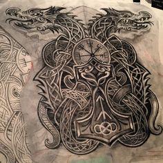 Like times, 16 comments – Norse / celtic_tattoos ( … – Norse Mythology-Vikings-Tattoo Hai Tattoos, Irish Tattoos, Body Art Tattoos, Sleeve Tattoos, Small Tattoos, Celtic Cross Tattoos, Celtic Art, Celtic Runes, Norse Tattoo