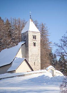 Falera in der Surselva. Graubünden. Schweiz.