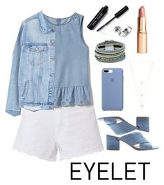 """Eyelet Denium"" by summerlife4 ❤ liked on Polyvore featuring rag & bone, Gap, MANGO, Bobbi Brown Cosmetics, Sigerson Morrison, Design Lab and Natalie B"