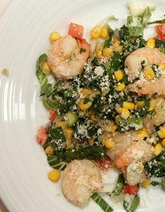 "Quinoa ""Risotto"" with Shrimp and Kale #veggies #protein #MyPlate #WhatsCooking"