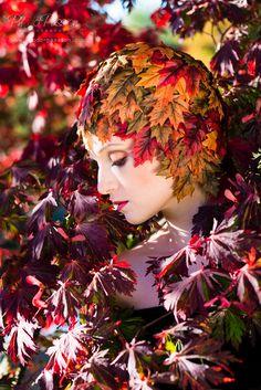 """Ein Beauty-Fotoshooting im Herbst. Verwandlung """"Ich bin der Herbst""""  in Hamburg. http://fc-foto.de/37975665"""