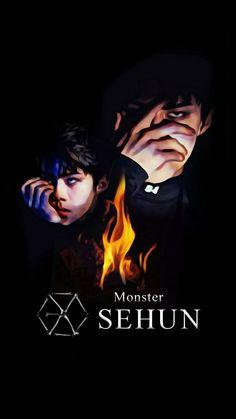 *Whispers* New tablet background, yesssss Exo Chanyeol, Kyungsoo, Exo Lucky One, Exo Monster, Exo Fan Art, Exo Lockscreen, Do Kyung Soo, Kim Jong In, Exo Members