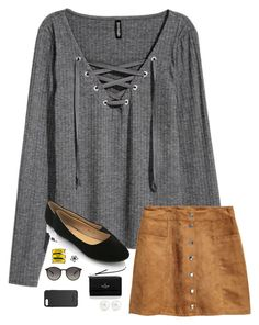 """""""Little but fierce"""" by trujilloxochitl on Polyvore featuring H&M, Kate Spade, Ray-Ban, Kenneth Jay Lane and OtterBox"""