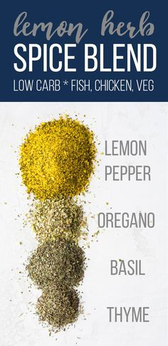 Lemon herb seasoning recipe is a simple spice blend you can use on fish chicken and potatoes Prep a big batch and you can store it for up to a year Low carb glutenfree ve. Lemon Herb Seasoning Recipe, Seasoning For Fish, Salt Free Seasoning, Seasoning Mixes, Homemade Spice Blends, Homemade Spices, Homemade Seasonings, Spice Mixes, Gastronomia