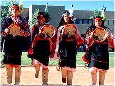 Native American traditional dance ceremonies being performed at the Indian Pueblo Cultural Center in Albuquerque