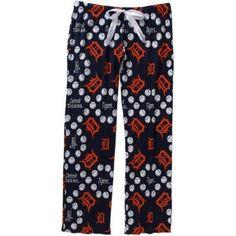 MLB Women's Detroit Tigers Knit Sleep Pants, Size: Medium, Blue