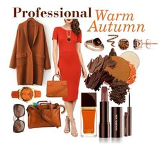 Professional - Warm Autumn by prettyyourworld on Polyvore featuring Unique Vintage, Royce Leather, LE VIAN, Auriya, ELLE Time & Jewelry, Palm Beach Jewelry, Tom Ford, Hourglass Cosmetics, Chantecaille and Bobbi Brown Cosmetics
