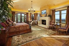 Like: rug, bed, there;s a fireplace in bedroom (dont like that one though), windows, wood floor, curtains, lighting