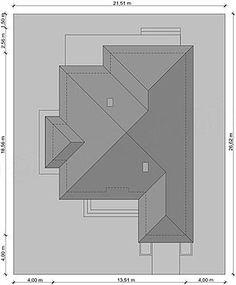 Projekt domu Hipokrates 113,85 m2 - koszt budowy 245 tys. zł - EXTRADOM Bar Chart, House Plans, Spaces, How To Plan, House 2, Arquitetura, Tiny Houses, Blue Prints, Bar Graphs