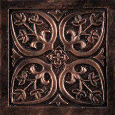 Emser Camelot Copper Metal Square Accent Tile (Common: x Actual: x Stove Backsplash, Copper Backsplash, Copper Accents, Copper Metal, Fireplace Design, Beautiful Space, 4x4, Decorative Boxes, Kitchen Remodel