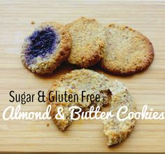 Simple and quick to make, these sugar free gluten free almond butter cookies are are great healthy snack for adults and toddlers.