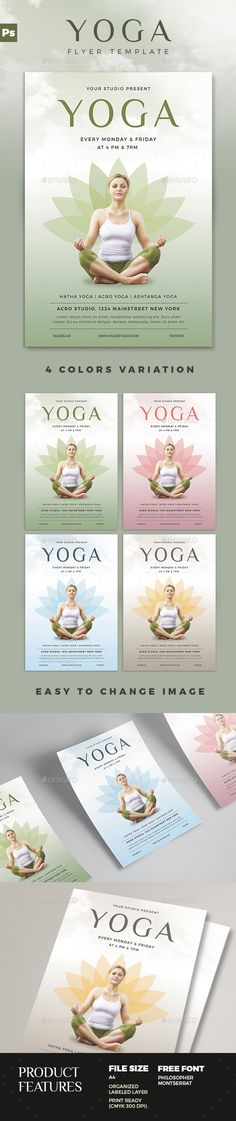 Yoga Flyer Template Just love, Texts and It is - yoga flyer