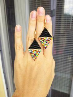 Beaded Earrings Patterns, Jewelry Patterns, Beading Patterns, Beaded Jewelry, Handmade Jewelry, Beading Tutorials, Bracelet Patterns, Diy Jewelry, Geek Jewelry