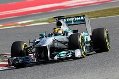 Lewis Hamilton's Mercedes AMG F1 FW04.