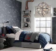Trendi fiúszobák industrial stílusban: