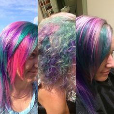 Colour 8 weeks later, colour Love the new look. Green Hair, Purple Hair, New Look, Dreadlocks, 8 Weeks, Photo And Video, Hair Styles, Instagram Posts, Change