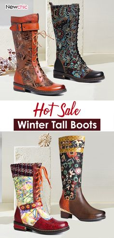 Steampunk Accessoires, Floral Shoes, Mock Turtle, Flat Boots, Fashion Outfits, Womens Fashion, Cowboy Boots, Durga, Footwear
