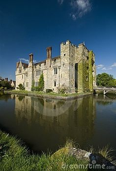 Tudor Hever Castle, Kent, England, birthplace and home of Anne Boleyn, Henry VIII's second wife