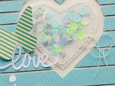 Heart shaped confetti pocket by Melinda Spinks