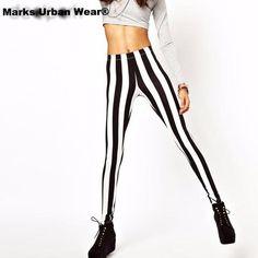 1d7553491cc Black and White Spandex Zebra Print. Buy Spandex Zebra Print Vertical  Stripe Pants Summer Sexy Leggings ...