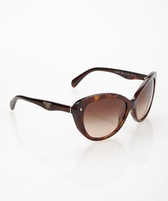 Take a look at this Havana Brown Cat-Eye Sunglasses by Prada on #zulily today!  but $179