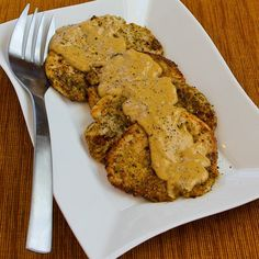 Low-Carb Turkey Cutlets with Dijon Sauce; quick and easy for a delicious dinner!   [from KalynsKitchen.com]