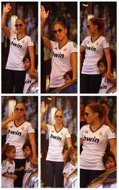 Jennifer Lopez & her kids wear Real Madrid Shirts